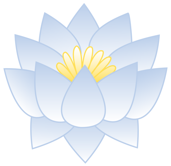 Bluish White Lotus Flower.