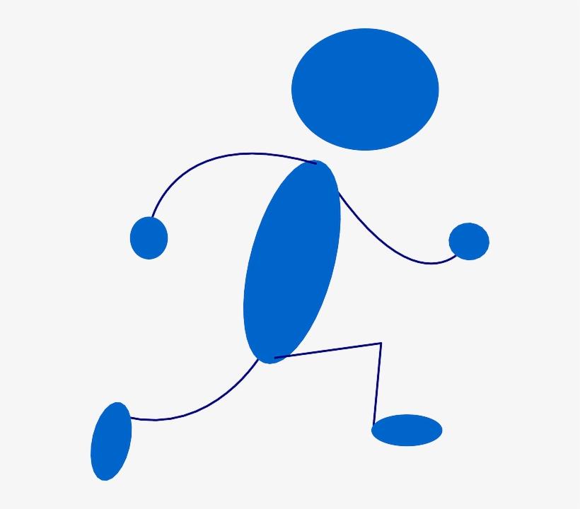 Blue, Stick, Symbol, People, Man, Sprint, Men, Running.