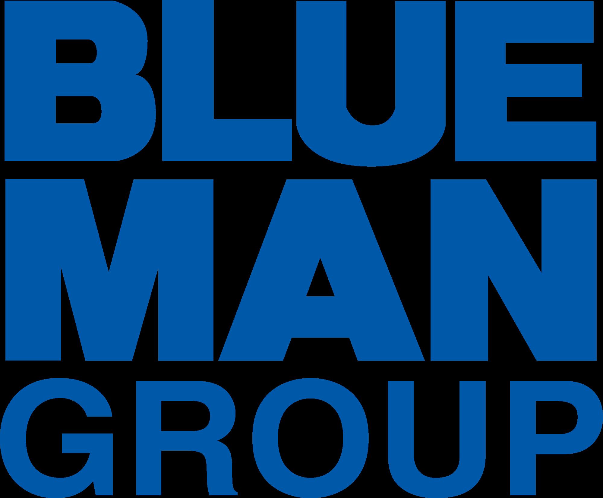 Blue Man Group Logo Clipart.