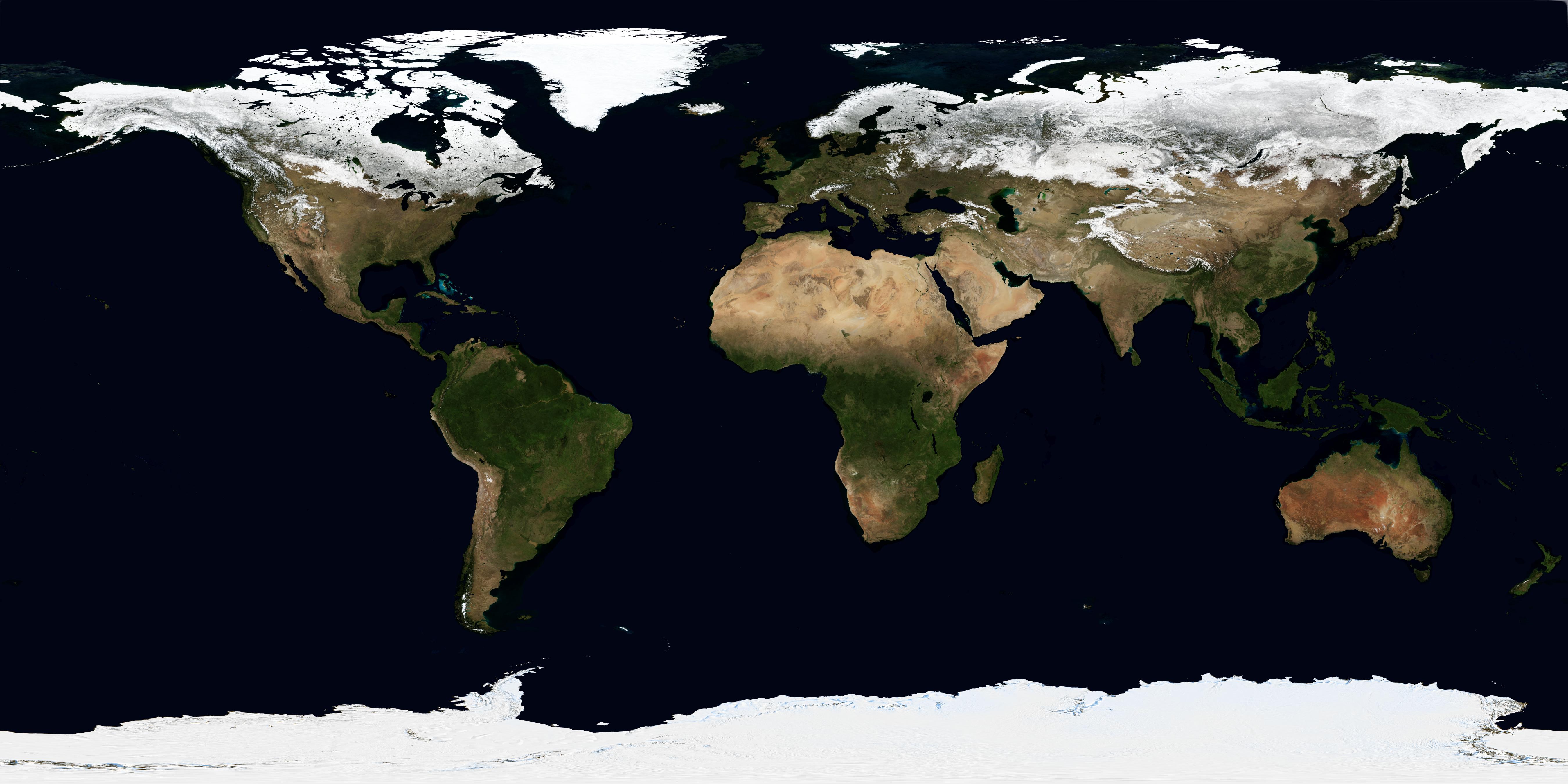 NASA Visible Earth: March, Blue Marble Next Generation.