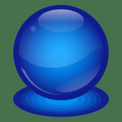 Blue marble ball.