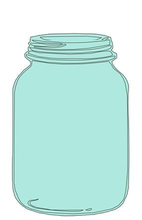 mason jar clipart for catching bee.
