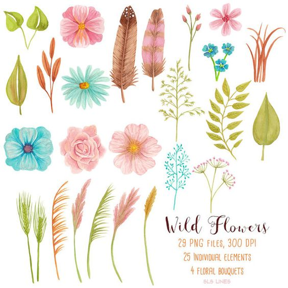Wild flowers, Flower watercolor and Pink brown on Pinterest.