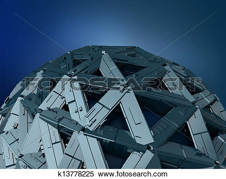 Stock Illustration of abstract metal structure k13778225.