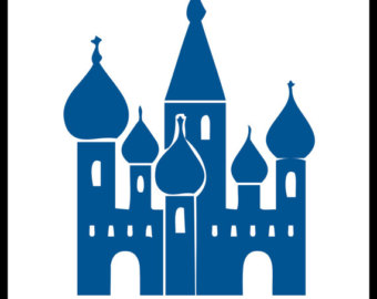 Blue metal onion dome clipart #19