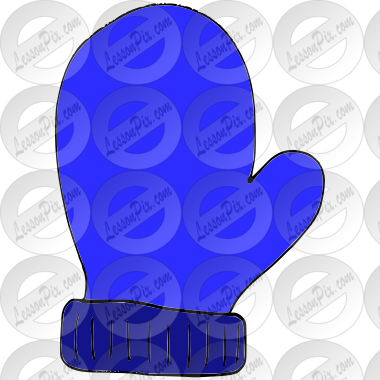 Blue Mitten Picture for Classroom / Therapy Use.