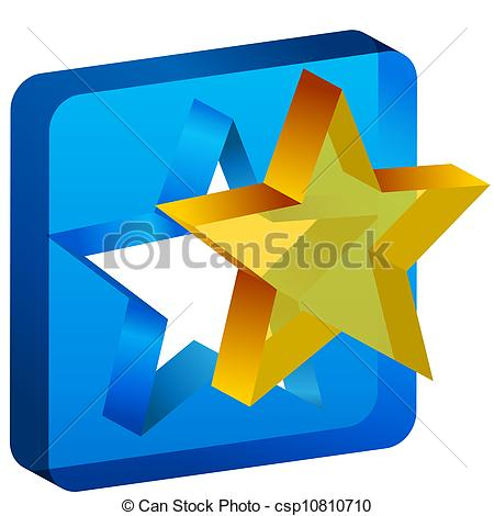 Vector Clip Art of Star Mold Cutout Icon.