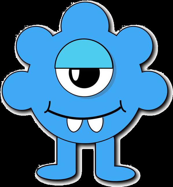 Blue Monster Png File Monster Clipart Kids.