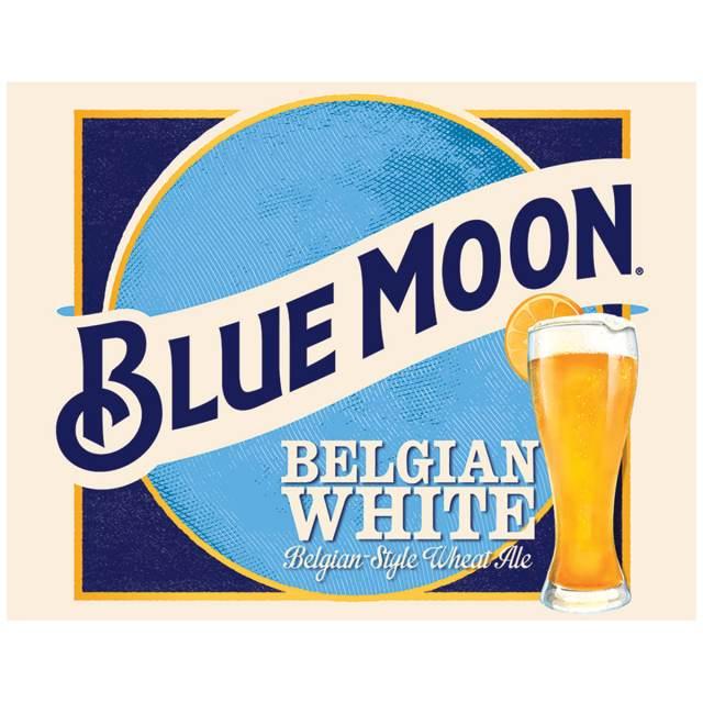 Blue Moon Beer Logo Tin Sign.