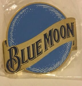 Details about Vintage Blue Moon Beer Brewery Logo Advertising Pinback 1 1/2  Inch Lapel /hat.