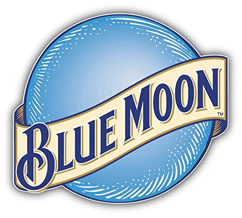 Blue Moon Beer Logo Car Bumper Sticker Decal 14\