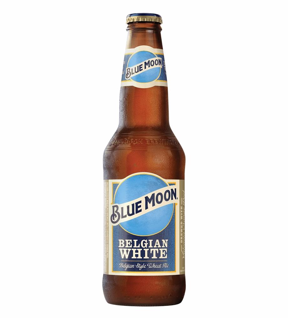 Blue Moon Beer Bottle Png.