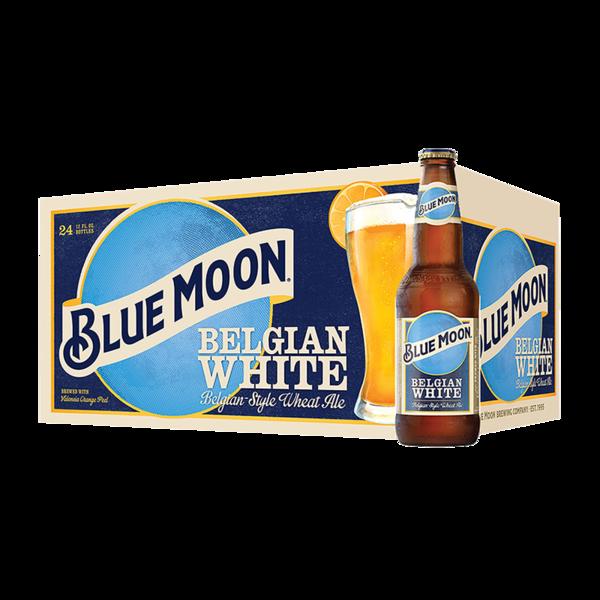 Blue Moon Belgian Wheat Ale.