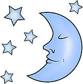 Blue Moon Clip Art.