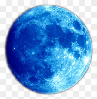 Free PNG Blue Moon Clip Art Download.