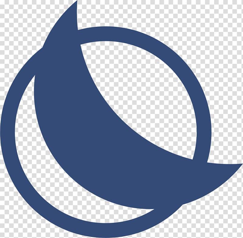 Blue moon Logo Symbol Full moon, blue half moon transparent.