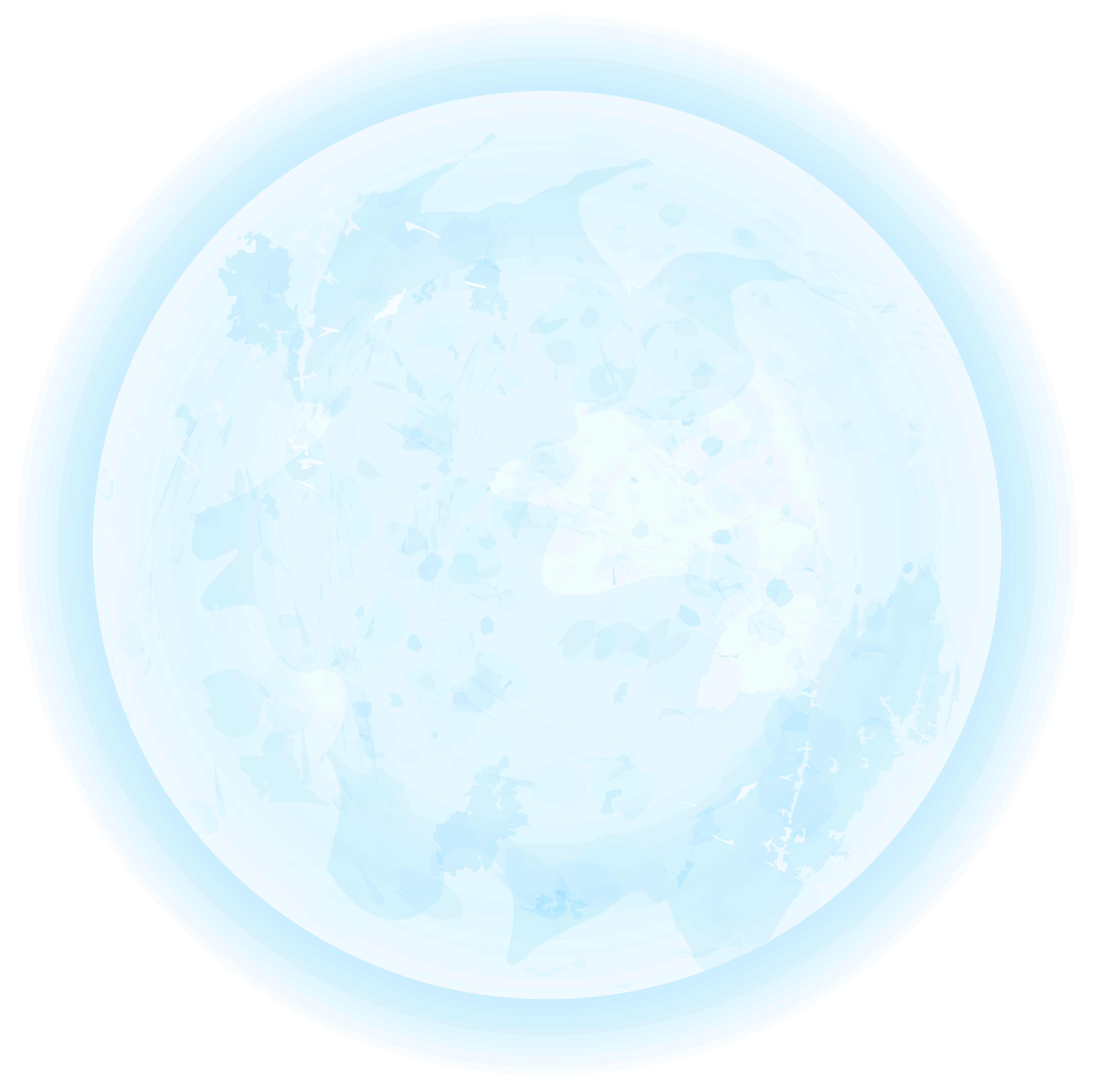 Blue Moon PNG Clipart Image.