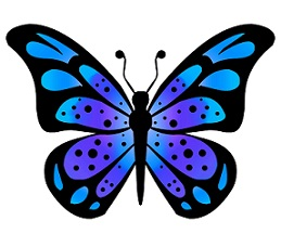 Free Blue Butterfly Clipart.