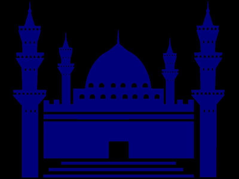 Blue mosque clipart.