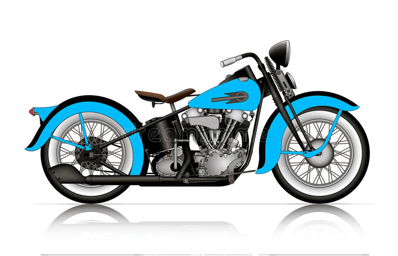 Blue Motorcycle Stock Illustrations.