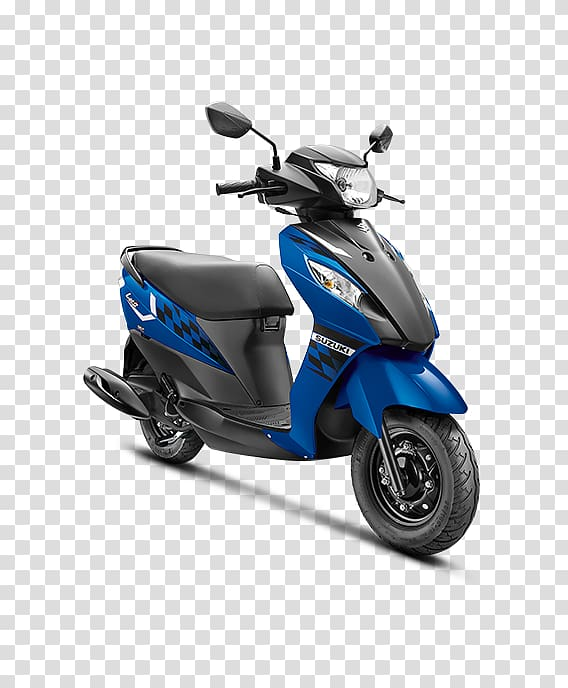 Suzuki Let\'s Scooter Bajaj Auto Motorcycle, blue motorcycle.