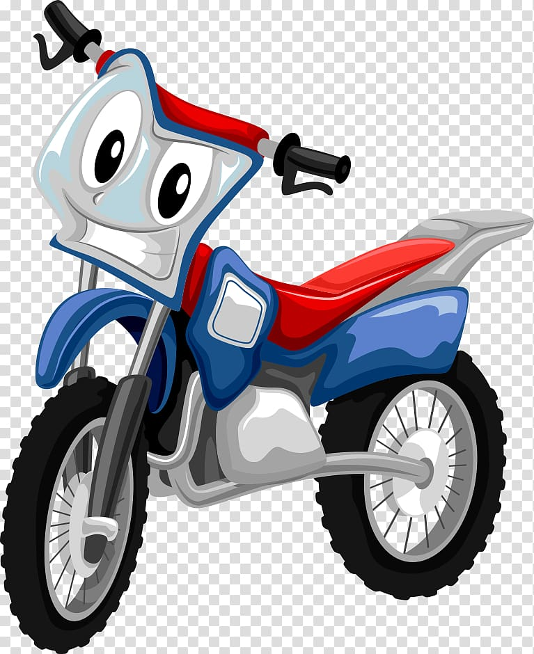 Blue and red motocross character art, Motorcycle , cartoon.