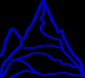 Blue Mountain Clip Art.