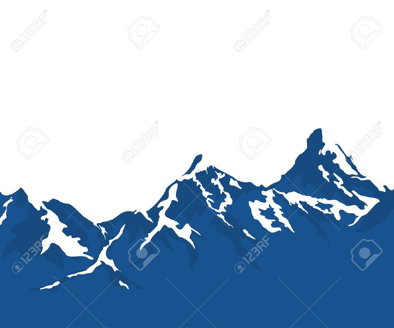 Blue Mountain Clip Art.