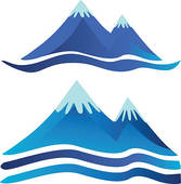 Mountain water clipart #12