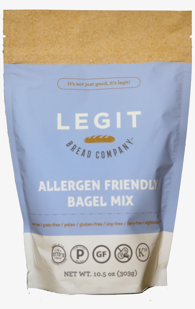 Legit Bread Allergen Friendly Bagel Mix Front.