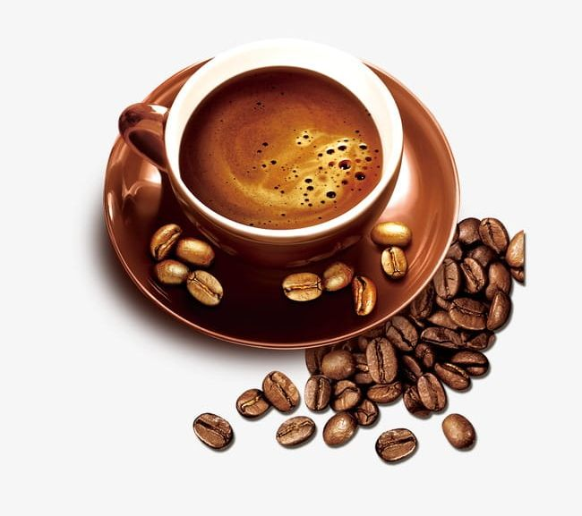 Gold Coffee Cup Coffee Beans PNG, Clipart, Beans, Beans.