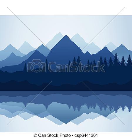 Vector Clip Art of Mountain.