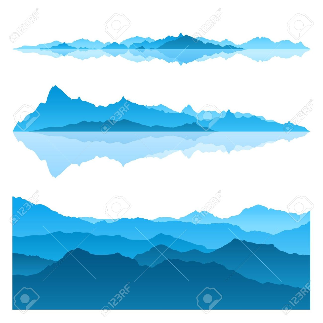 Blue Mountain Range Clipart Clipground