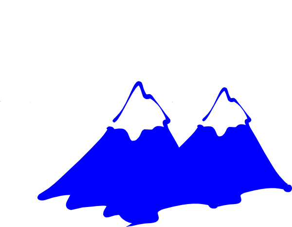 Blue mountain clipart.