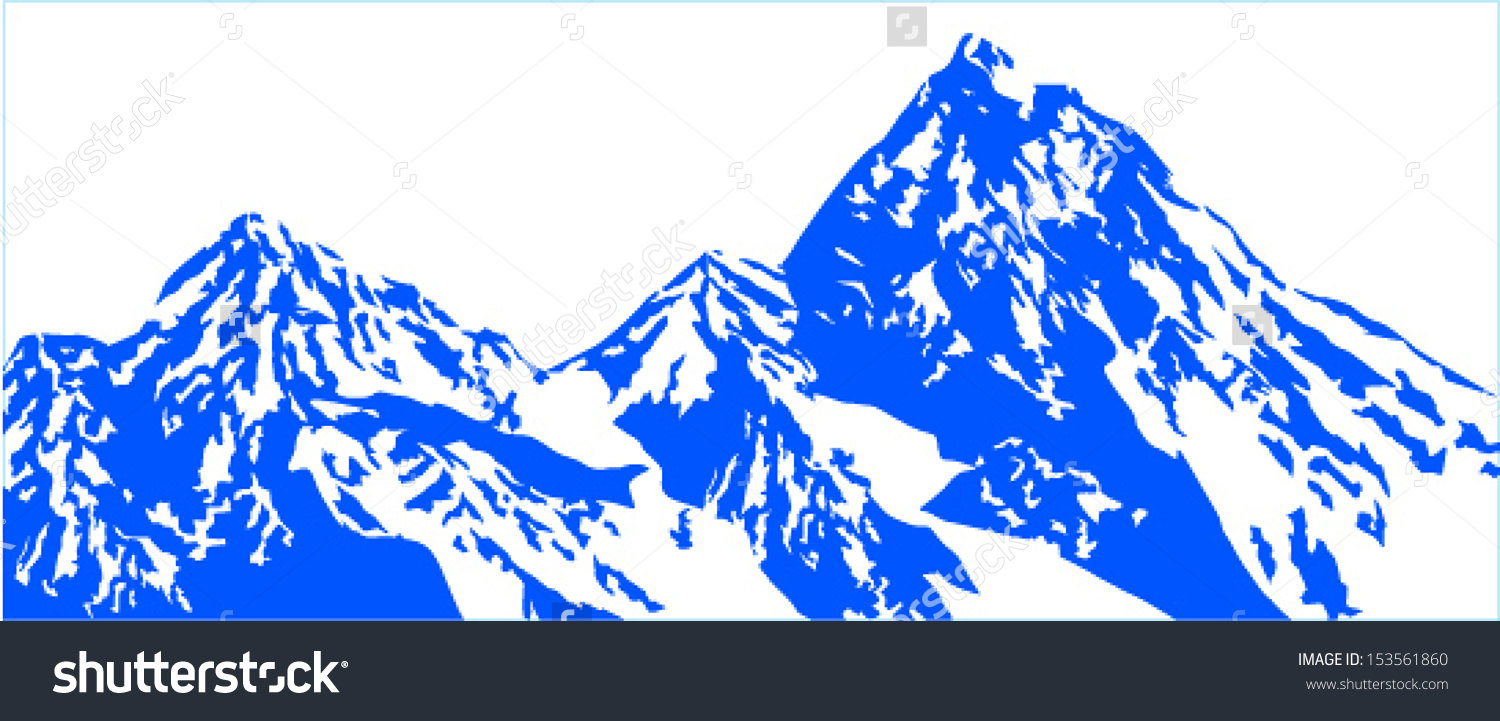 Snow mountain clipart background.