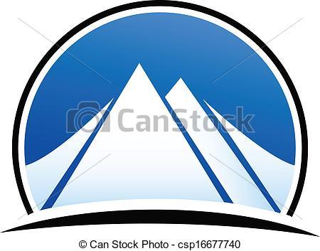 Logo mountain clipart.