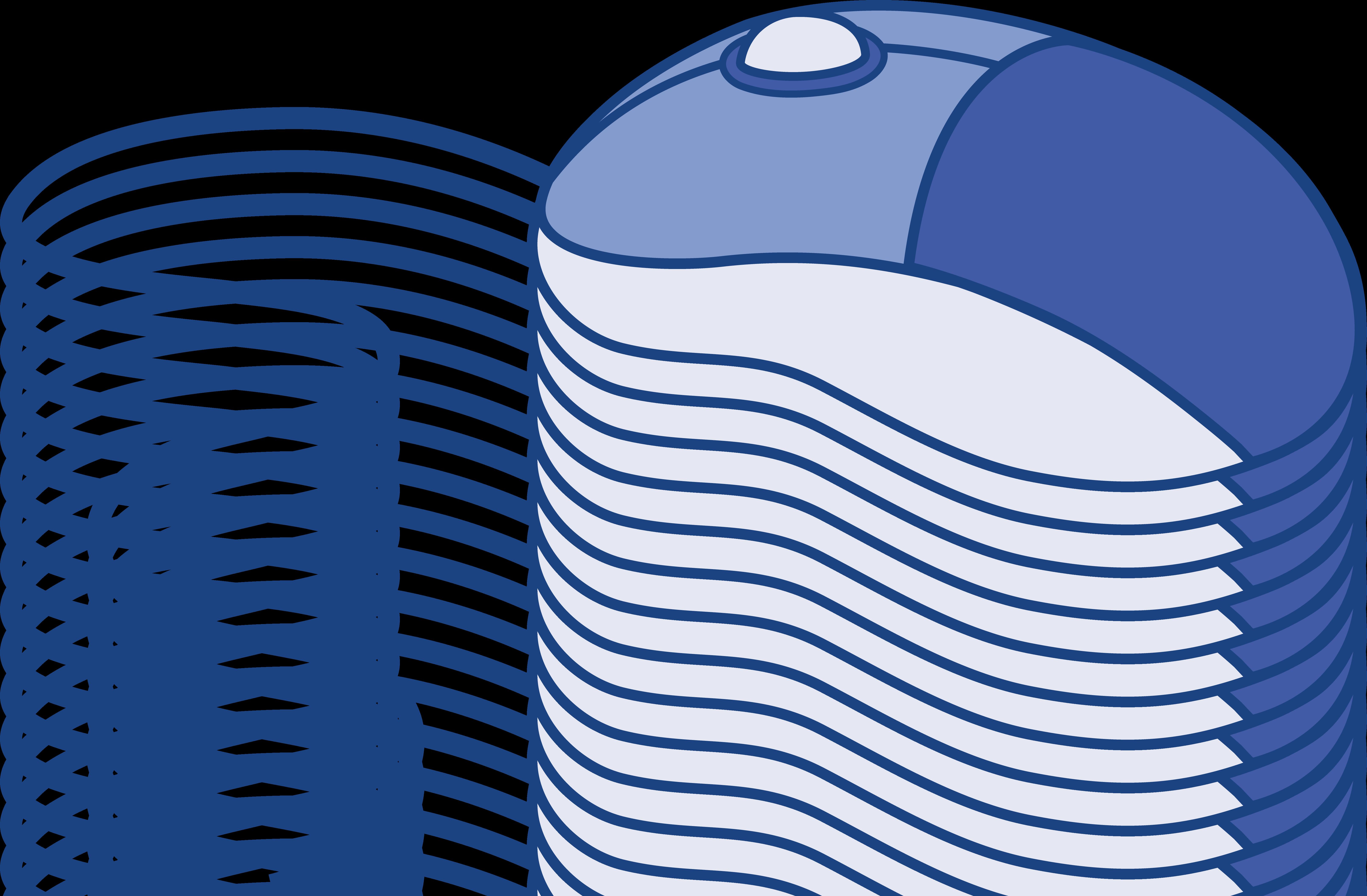 Blue Computer Mouse.