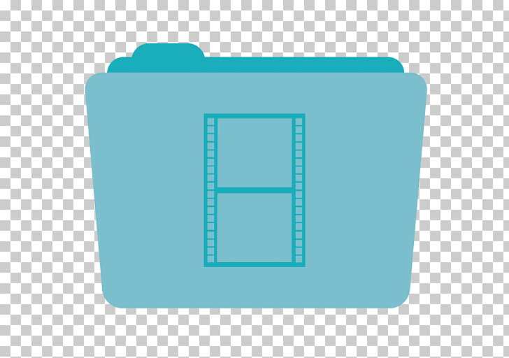 Blue brand aqua, Folder Movies, green folder PNG clipart.
