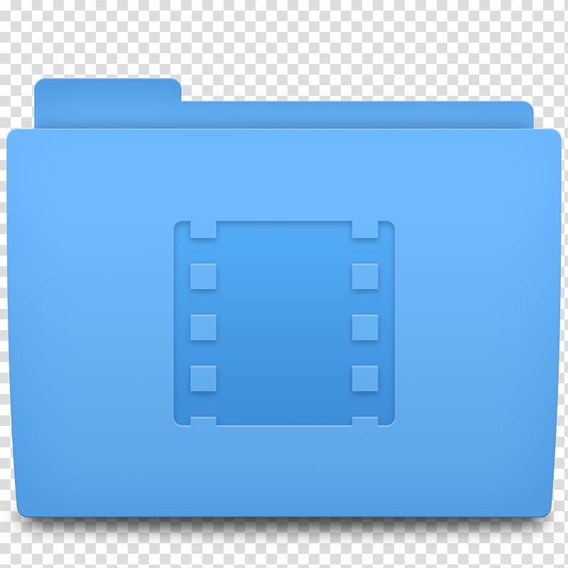 Accio Folder Icons for OSX, Movies, blue video icon folder.