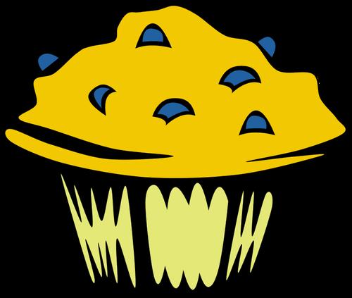 Blueberry muffin vector clip art.