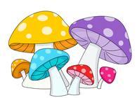 Blue mushroom clipart #12