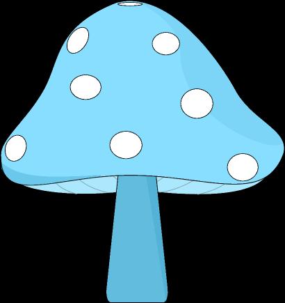 Blue Mushroom Clip Art.