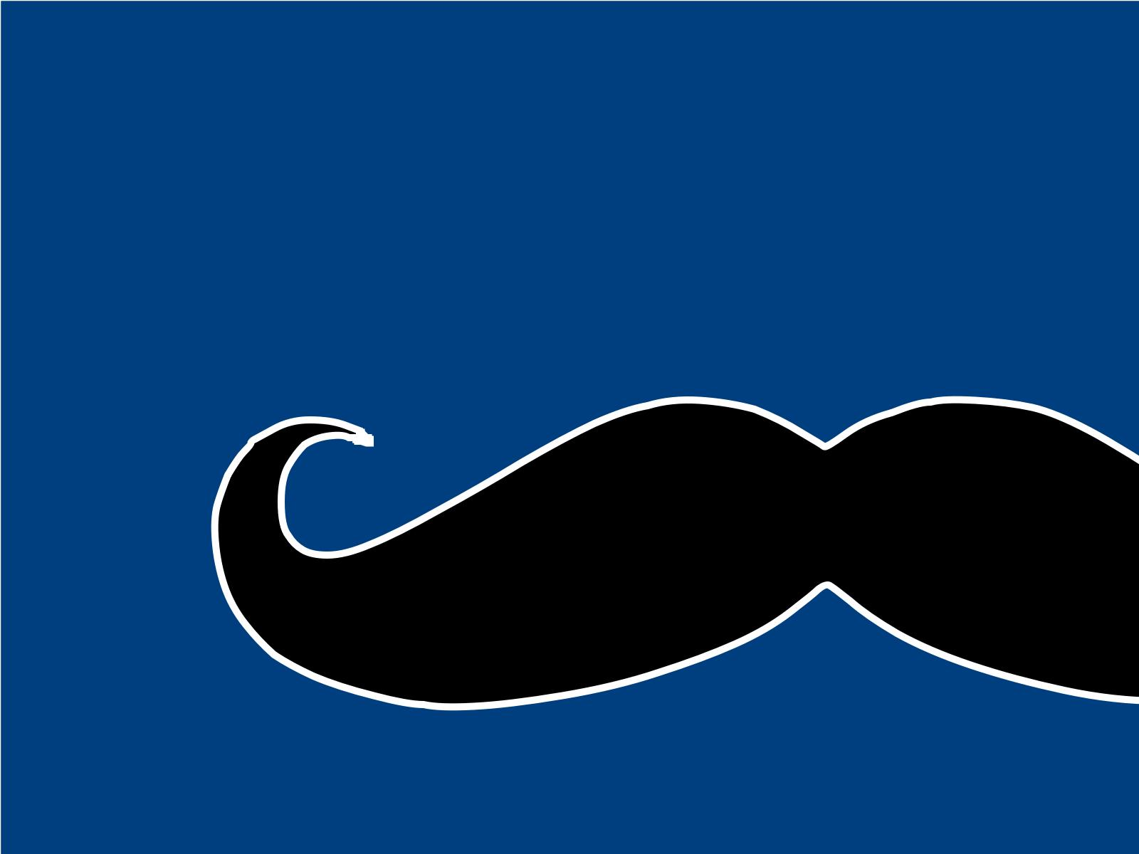 Blue Mustache Clip art, Icon and SVG.