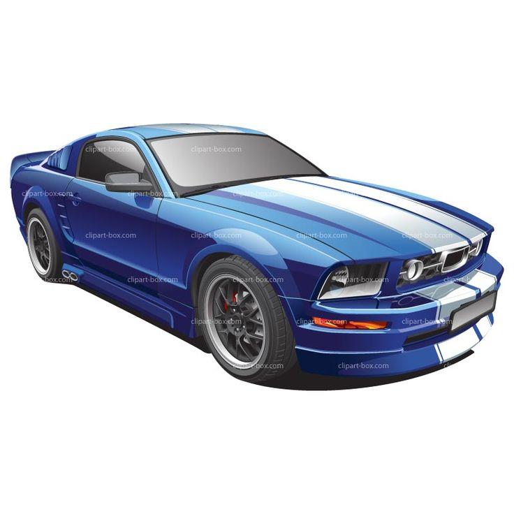 Car Clipart Clipart blue mustang 3.