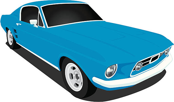 Best 1960s Sports Cars Illustrations, Royalty.