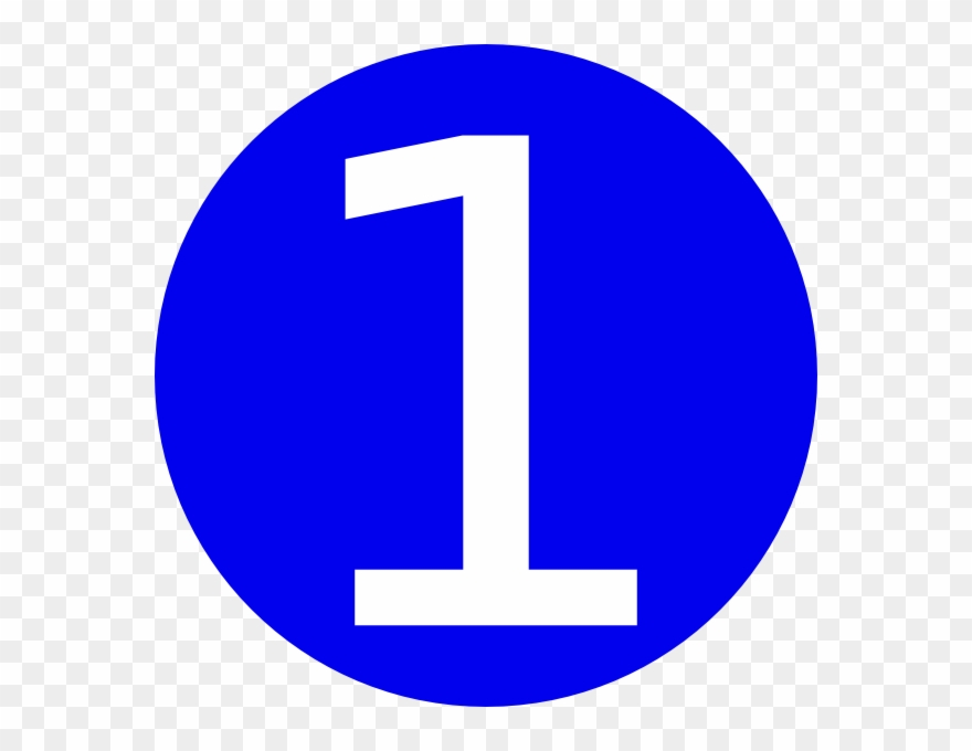 Blue, Rounded,with Number 1 Clip Art At Clker.