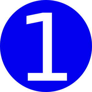 Blue, Rounded,with Number 1 Clip Art at Clker.com.