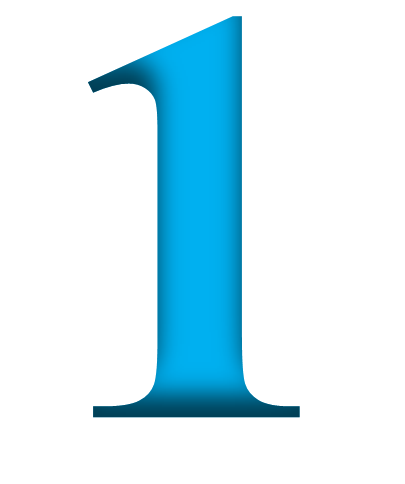 1 Number PNG Transparent Images.