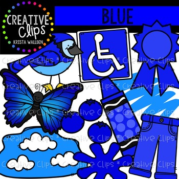 Blue Objects Clipart {Creative Clips Clipart}.