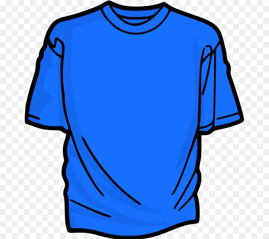 Tshirt Blue png download.